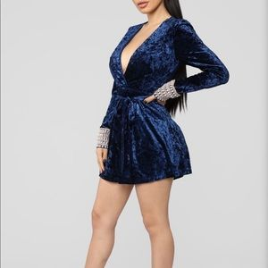 Fashion Nova Velvet Romper